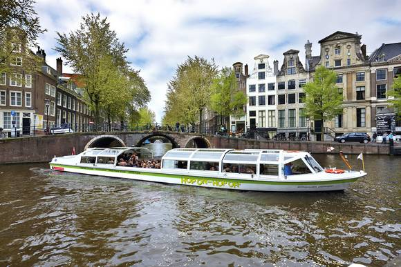 Hop on Hop off Boat Stromma Amsterdam Welcome