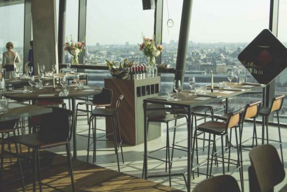 Madam A'dam Tower dinner view - Where to Eat Amsterdam Welcome