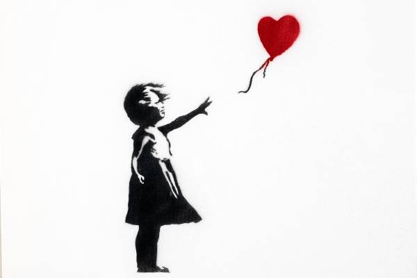Girl with the balloon - the art of Banksy