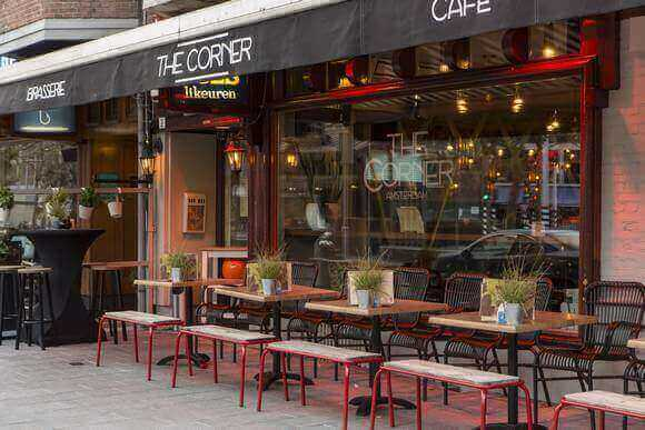 The Corner Restaurant bar cafe Amsterdam Welcome